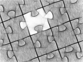 puzzel waarbij een stukje ontbreekt