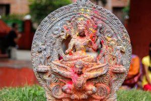 beeld van een hindoegodin