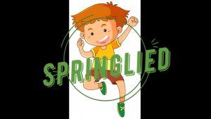 Voorbeeld van video met titel Springlied en afbeelding van een springende jongen