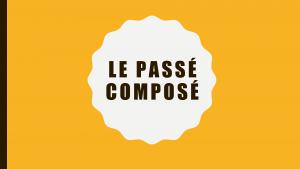 Woord Passé composé