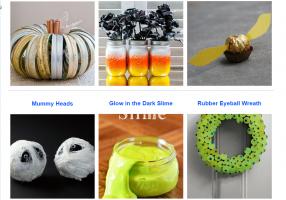 Zes voorbeelden van eindresultaten rond Halloween