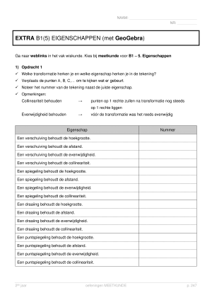 Voorbeeld uit: EXTRA p 247 (geogebra).pdf