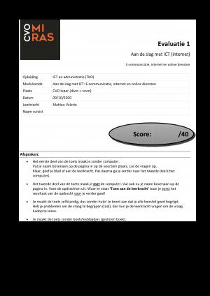 Voorbeeld uit: Toets 1 - Internet - met punten.docx