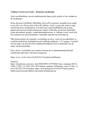 Example from: Tableau Vivant concerning Greco-Roman Mythology.docx