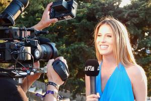 reporter en cameraman