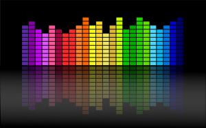 beats van muziek visueel voorgesteld