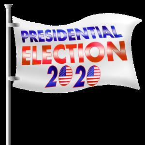 vlag met presidentsverkiezingen 2020