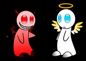 duivel en een engel