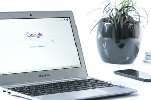 Chromebook met Google logo