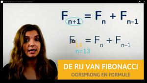 Docente legt formule van Fibonacci uit