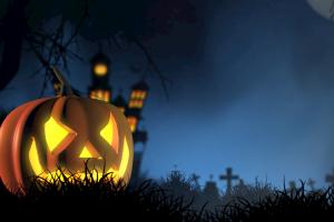 griezeligen Halloween pompoen