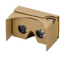 Een kartonnen VR-bril.