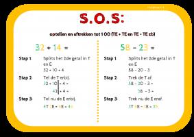 Voorbeeld uit: Hulpkaart 04 optellen en aftrekken TE+TE en TE-TE.pdf