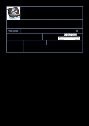 Voorbeeld uit: sjabloontoetswiskunde.docx