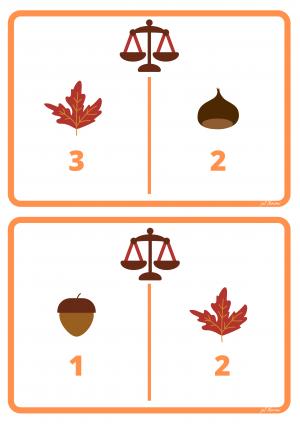 Voorbeeld uit de weegkaart getal met illustratie