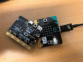 Afbeelding van een Microbit minicomputer