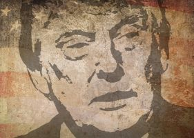 tekening Donald Trump