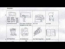 tekeningen met woordenschat thema school