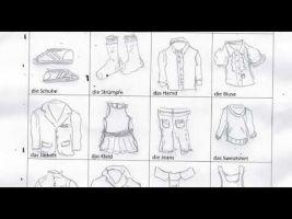 tekeningen van woordenschat over kledij