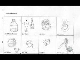tekeningen over eten en drinken