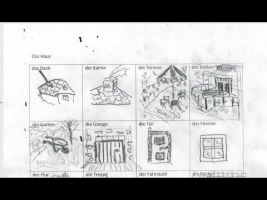 tekeningen over het huis