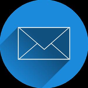 blauwe enveloppe