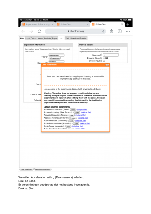 Voorbeeld uit: Proeven van Phyphox 7.docx