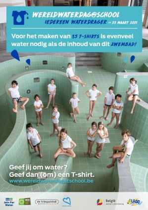 Affiche Wereldwaterdag@school 2021