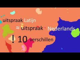 still van video over uitspraak van het Latijn