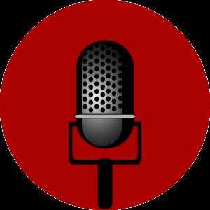 Een tekening van een microfoon.