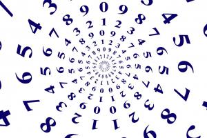 cijfers in een kring