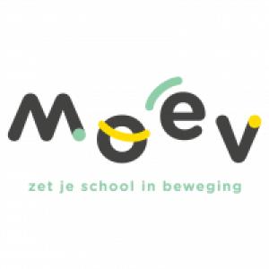Logo MOEV zet je school in beweging