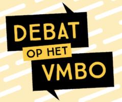Logo van Debat op het vmbo