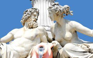 beeld van twee Griekse goden