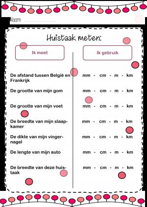 Voorbeeld uit de huistaak meten