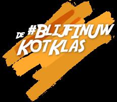 Het logo van de #Blijfinuwkotklas.