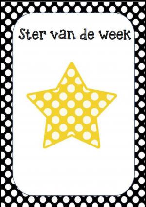 Voorbeeld van de afbeelding ster van de week