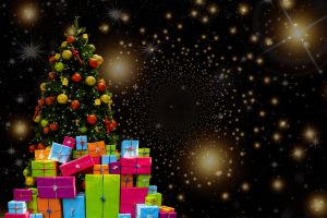 kerstboom met pakjes