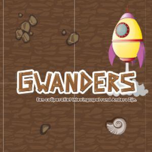 Gwanders logo met raket