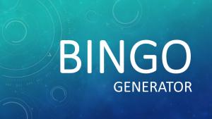 Titel bingogenerator