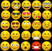 verzameling van verschillende smileys