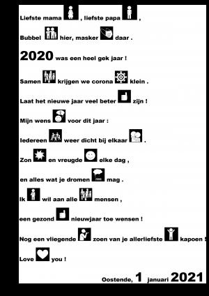 Voorbeeld uit de nieuwjaarsbrief 2021