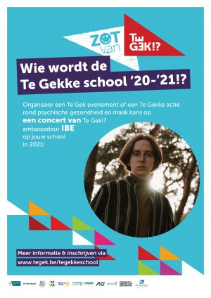 Affiche Te Gekke school '20-'21