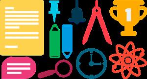 wetenschappelijke symbolen en scans