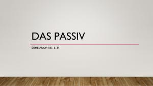 Voorbeeld uit: Das Passiv.pptx