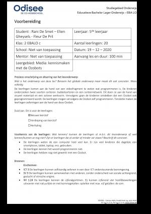 Voorbeeld uit: ELIEN GHEYSELS_RANI DE SMET_FLEUR DE PRIL_Lesvoorbereiding examentaak.docx