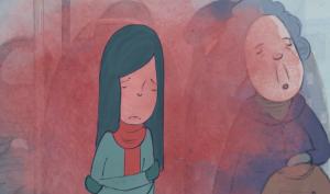 Still uit de promotievideo met blozend meisje