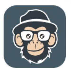 Logo JoeZoo Express - aap met hoed en bril