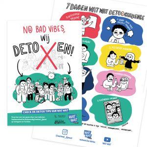 WAT WAT-affiches Detox challenge