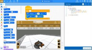 Screenshot van een programmeeromgeving